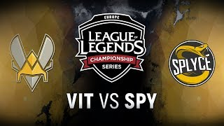 VIT vs. SPY - Week 1 Day 1 | EU LCS Summer Split | Team Vitality vs. Splyce (2018)