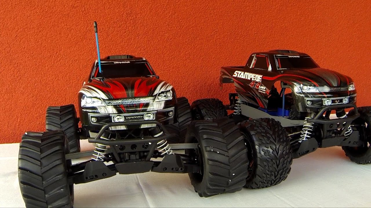 Traxxas Stampede 4x4 VXL and Stampede 4x4 Brushed differences visual parison srovnán