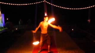 Огненное шоу - кручение пои, часть 1-я, лучшая