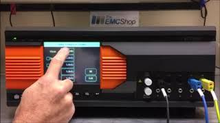 Menu Runthrough and Setup for Single Phase - 3ctest EFT500T