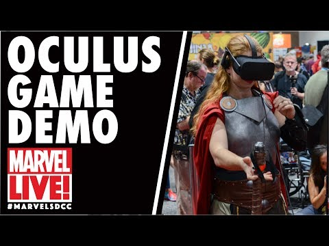 Oculus Game Demo at the Marvel Booth on Marvel LIVE! at San Diego Comic-Con 2017