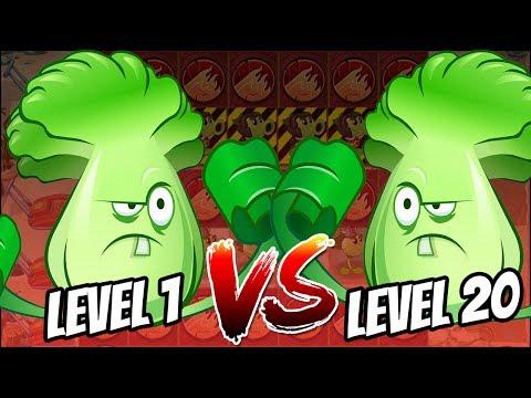 Bonkchoy Level 20 vs Bonkchoy Level 1 | ALL World ALL Zombies Challenge | Plants vs Zombies 2 MOD