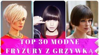 Top 30 modne fryzury z grzywką