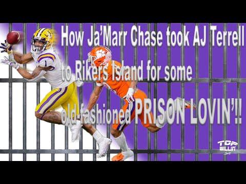 How Ja'Marr Chase gave AJ Terrell PRISON LOVIN'!!