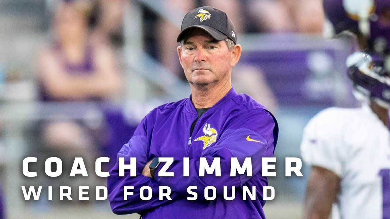 Wired For Sound  Minnesota Vikings Head Coach Mike Zimmer - YouTube 112a2c7ad