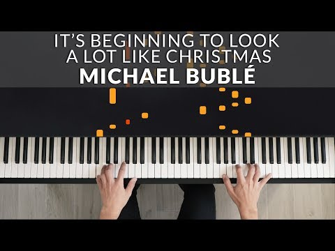Michael Bublé - It's Beginning To Look A Lot Like Christmas | Tutorial Of My Piano Cover