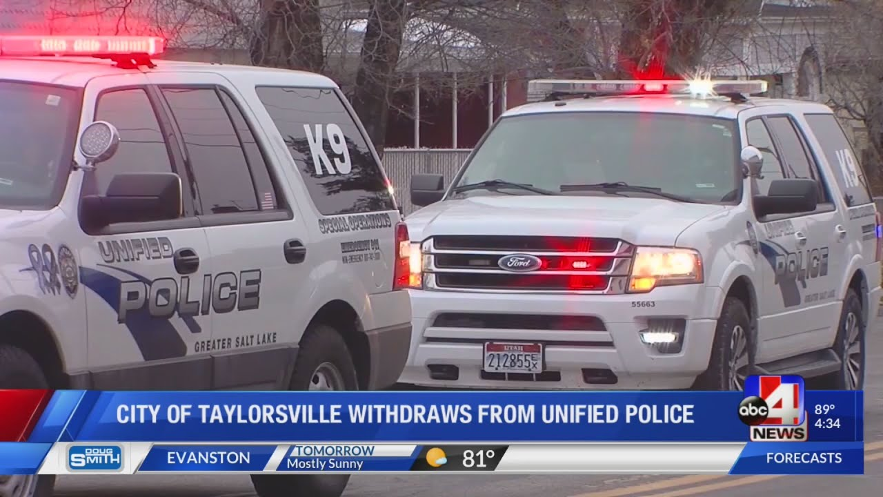 Sheriff responds to City of Taylorsville's withdrawal from Unified Police Department (4:30 p.m.)