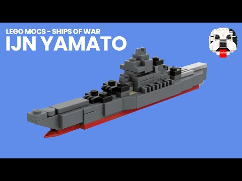 Lego Mocs Ships Of War Mini Lego Yamato Battleship Video