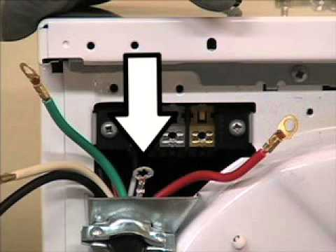 frigidaire dryer installation - electric dryer 4 wire cord installation -  youtube