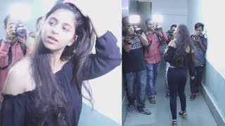 Sahrulh Khan's Daughter Suhana Khan Caught Alone in A Lift at Mumbai