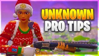 FIVE NEW UNKNOWN PRO TIPS! (Fortnite Battle Royale)