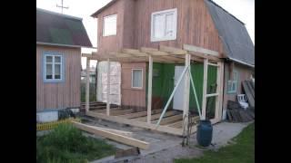Ремонт на даче (ЛесДомСтрой54) строительство террасы + тамбур