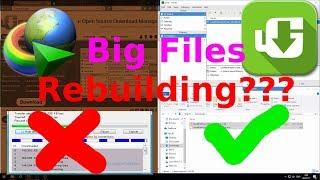 [Test] Download Manager: Uget vs IDM | Big Files | Not Need Rebuild