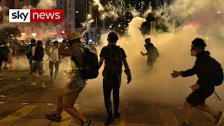 Police clash with Hong Kong protesters for ninth weekend
