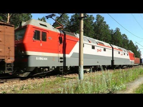 «Синары» с грузовыми поездами встретились на перегоне
