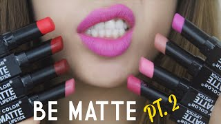 [SWATCH + REVIEW] CITY COLOR BE MATTE LIPSTICK (PT.2) (WITH CC ENGSUB)