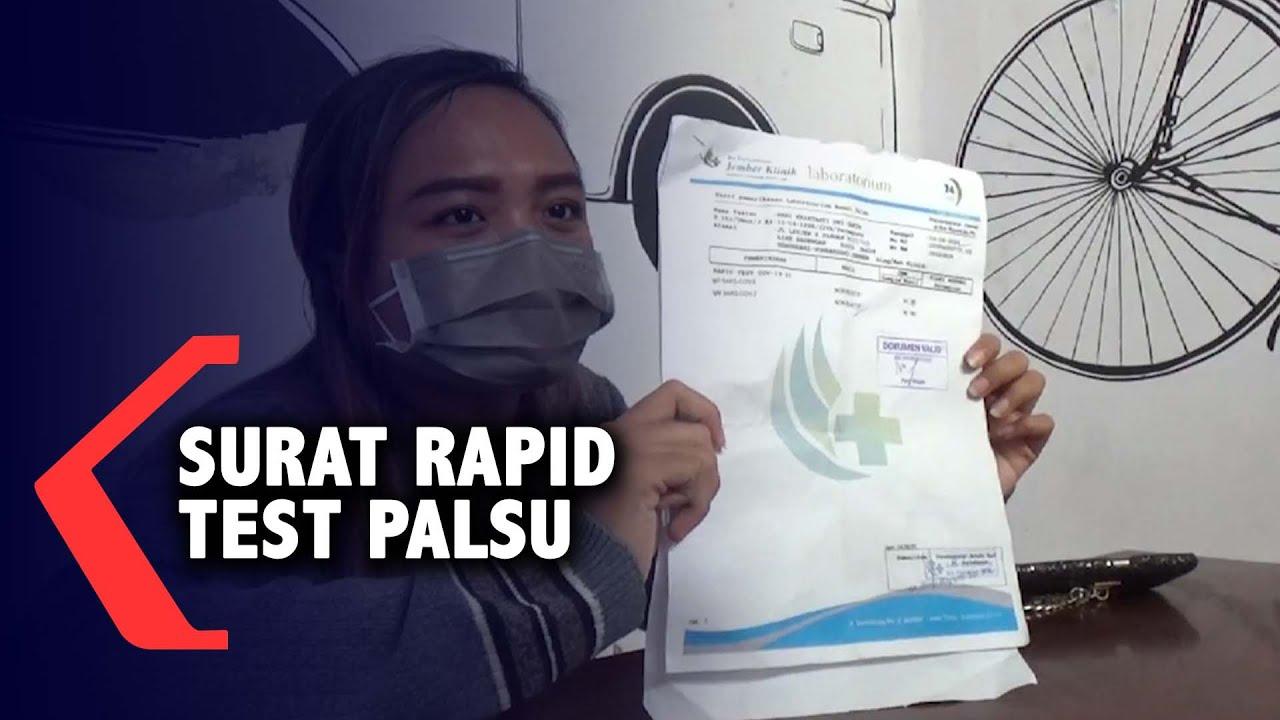 Surat Rapid Test Penumpang Travel Tujuan Bali Palsu Youtube