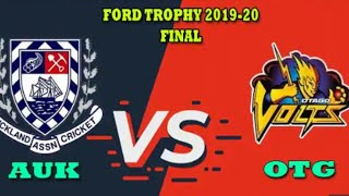 AUK vs OTG Live Score Streaming final Ford Trophy 2020 Auckland  vs Otago Live