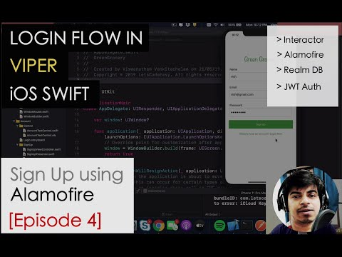Login Flow using VIPER iOS Swift - Sign Up Http Service using Alamofire [Episode 4] thumbnail