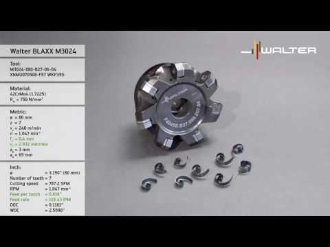 Walter Tools Milling (BLAXX) Heptagon milling cutter M3024 1