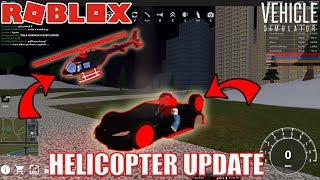 HELICOPTER and TESLA ROADSTER 2.0 Update | Roblox Vehicle Simulator