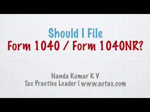 Should I File Form 1040 / 1040NR?