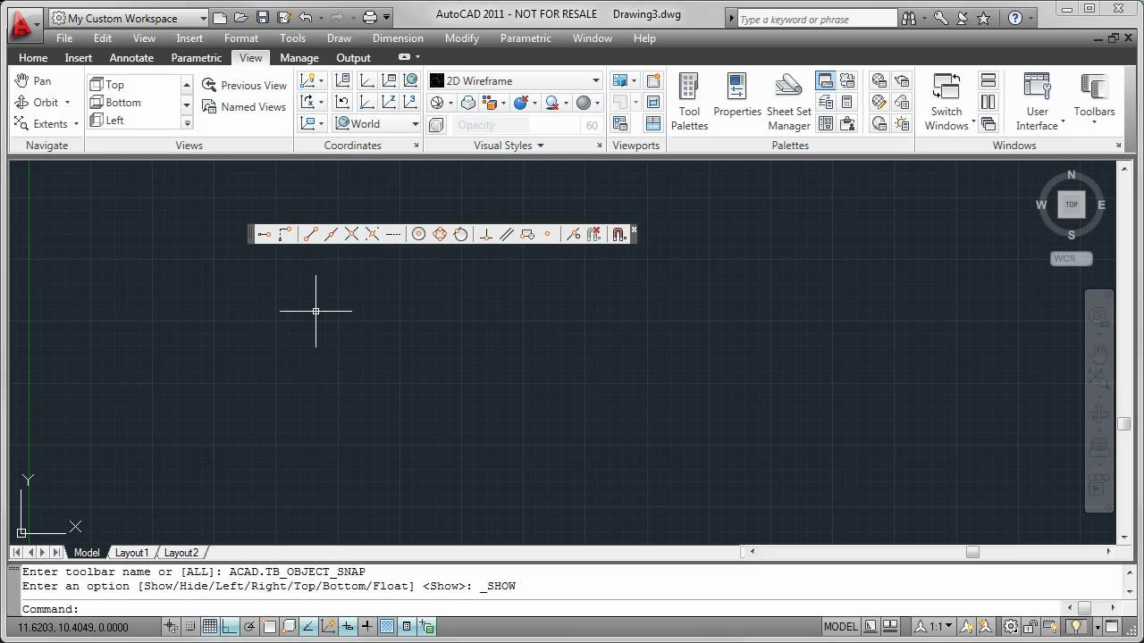 Restoring Autocad Menus And Toolbars Youtube