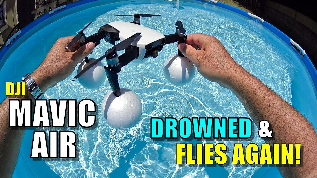 9be0fea55ef I Drowned My DJI Mavic Air Drone (With Floaties) & It Still Flies! 😆💦