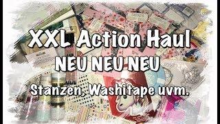 XXL Action Haul, DIY, basteln mit Papier, neue Stanzen, Washi Tape uvm, Scrapbook