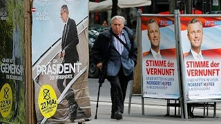 Выборы в Австрии: в ожидании второго тура(В Австрии пройдёт в воскресенье второй тур президентских выборов. Впервые за последние 60 лет в нём не приму..., 2016-05-20T07:50:59.000Z)