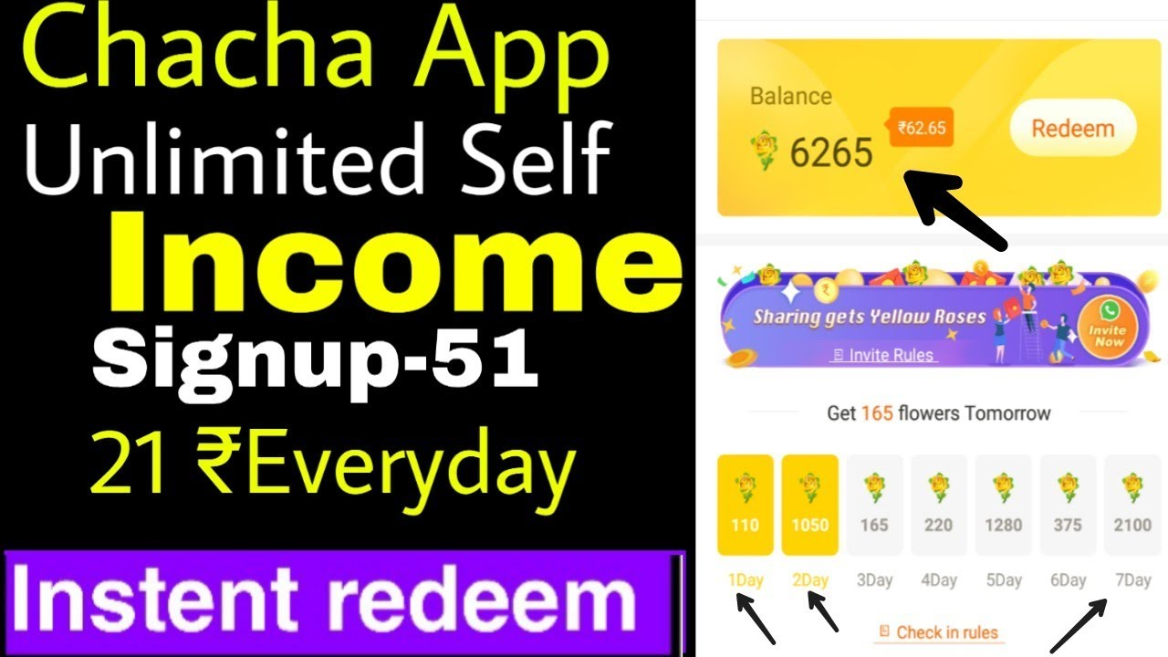 chacha app -unlimited self income    download rs 51    refer rs 10 paytm  cash #chacha