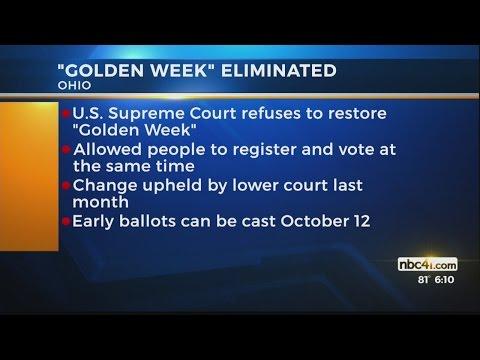 Golden Week eliminated