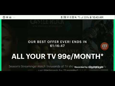 Hulu with limited commercials 99cents for year limited time only.