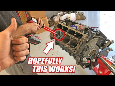 "Dingleberry Honing the Auction Corvette's ""NEW"" Junkyard Truck Engine! *McFarland Machining*"