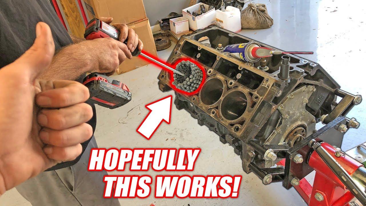 dingleberry-honing-the-auction-corvette-s-new-junkyard-truck-engine-mcfarland-machining