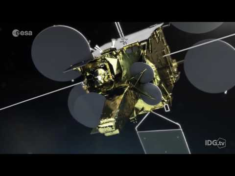 Laser communications satellite launches