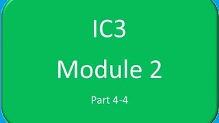 practice question on ic3 exam module 2 access 4 4