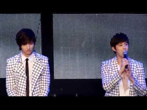 [FanCam] 111002 TVXQ! Fan Party in Beijing - Talk 1