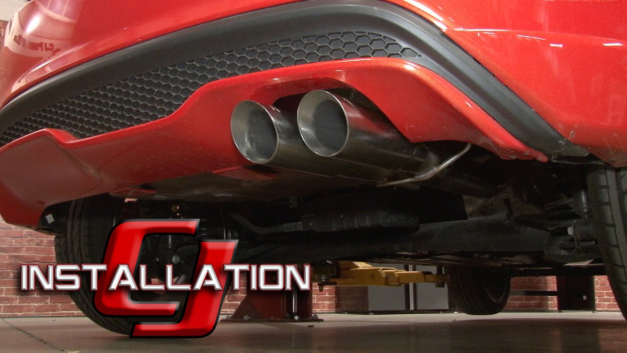 fiesta st mbrp cat back exhaust system xp series 3 2014 2016 installation