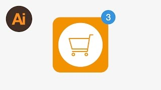 Learn How to Draw a Shopping Cart App Icon in Adobe Illustrator | Dansky