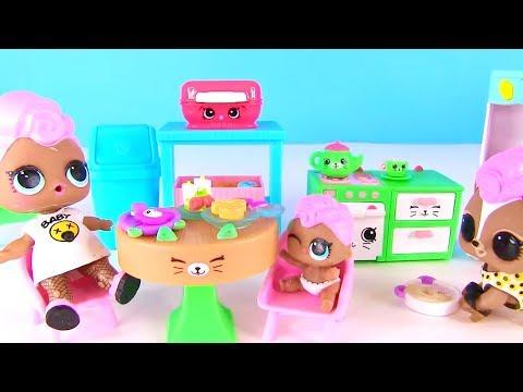 Куклы Лол Сюрприз! Завтрак Семейки Shopkins для Lol Families Surprise и Hairdorables Мультик Лол