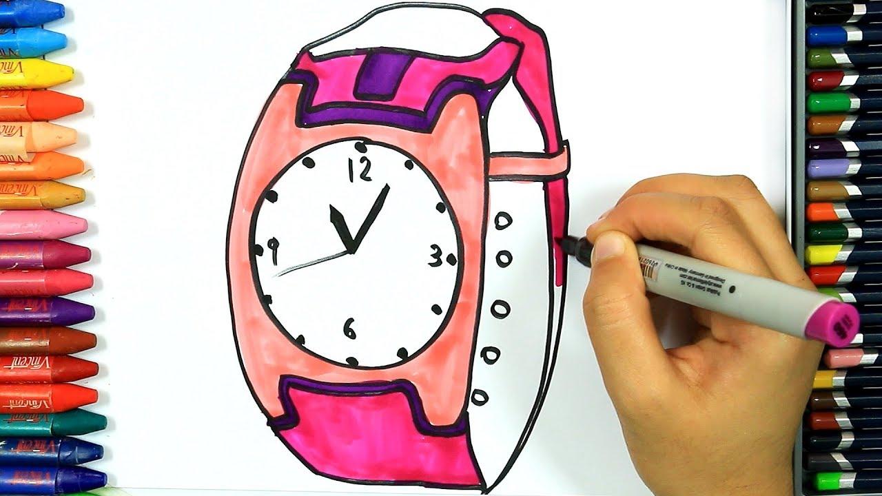 Wie Zeichnet Man Armbanduhr Ausmalen Kinder Kindervideos