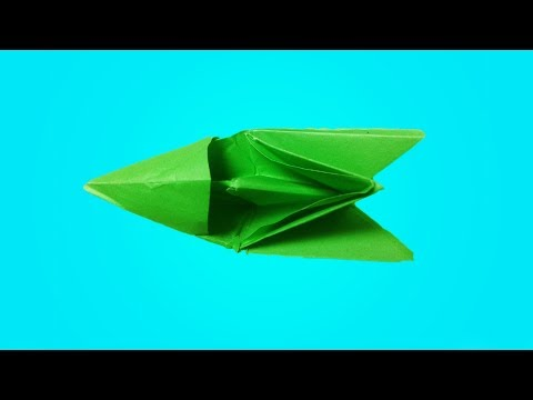Making origami speed boat step by step tutorial (An Easy Paper Speed Boat)
