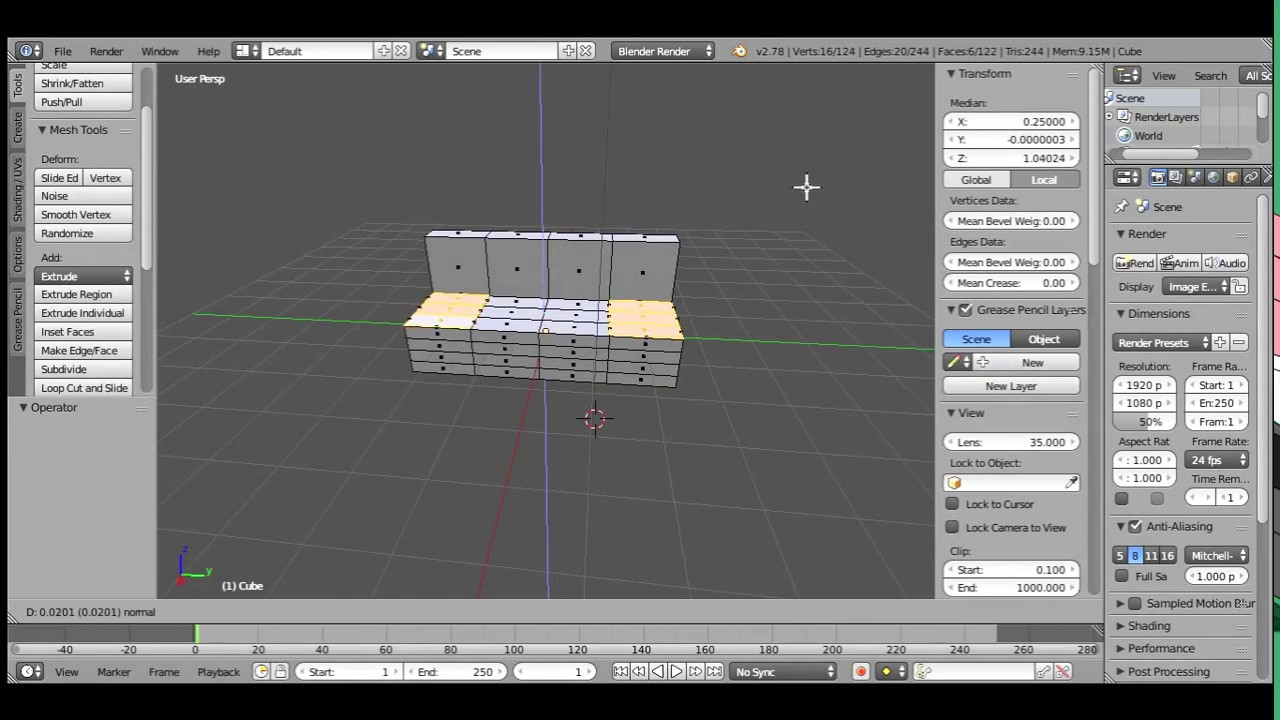 blender 2.78 how to make a heightmap