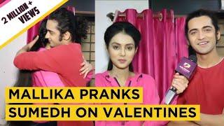 Mallika Singh Aka Radha Pranks Sumedh Mudgalkar Aka Krishna On Valentines | Exclusive