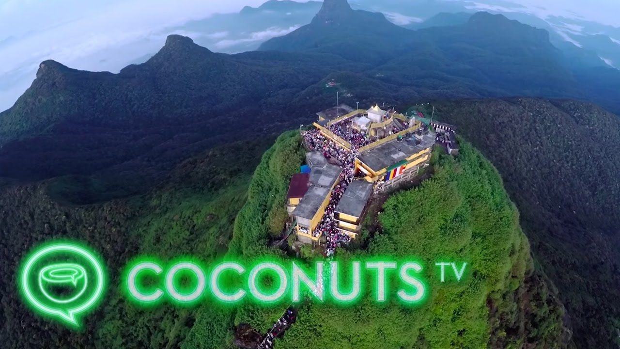 summiting adam 39 s peak in sri lanka coconuts tv youtube. Black Bedroom Furniture Sets. Home Design Ideas