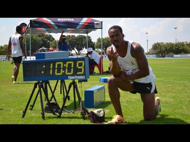 Henricho Bruintjies 100m 10.08 Season Opener!!!