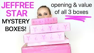 Unboxing ALL 3 Jeffree Star Cosmetics Mystery Boxes | BN REVIEWS