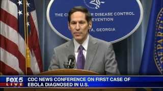 CDC holds news conference announcing first domestic case of Ebola in Texas