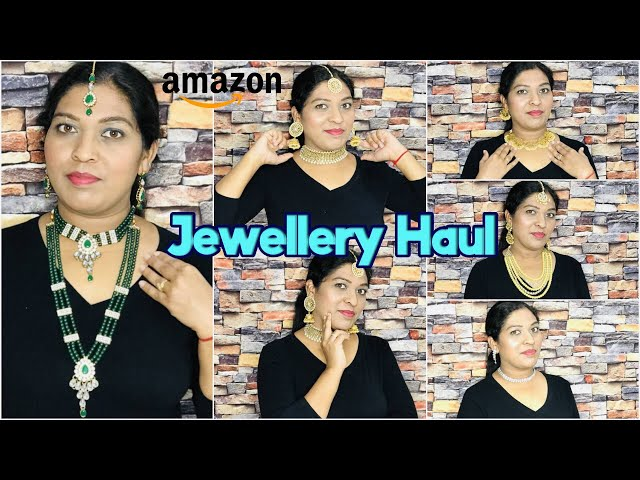HUGE AMAZON JEWELLERY HAUL Starting @ 299 / Upto 80% Off #amazonhaul #jewelleryhaul #prititrendz